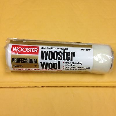 "Wooster RR631 9"" x 3/8""nap  Wooster Wool Semi-Smooth Surfaces"