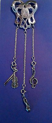 Chatalaine 4 piece All Sterling Silver with removable/replaceable charms