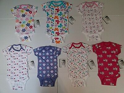 50e673e77 BABY GIRLS ONESIES Gerber Bodysuit Assorted Print Colors NB 0-3 3-6 ...