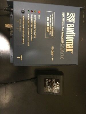 AudioMax 2600 Digital Messages & Music On-Hold System- Power Supply Included
