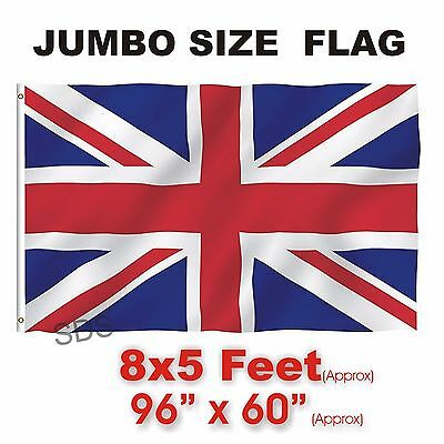 New Union Jack Flag Large Great Britain British Sport Olympics Jubilee 8 X 5FT