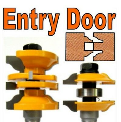 """2 pc 1/2"""" SH Entry & Interior Door Ogee Matched R&S Router Bit Set S"""