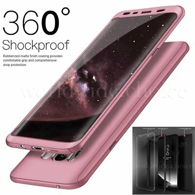For Samsung Galaxy S8 S7 Edge Hybrid 360° Hard Ultra thin Case Protective Cover