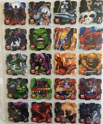 Super Ultra Rare Marvel Heroes 2005 Tazos A Complete Set Of 50