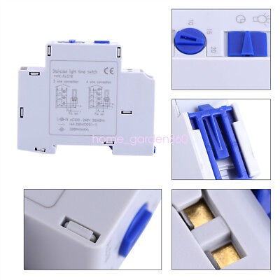 AC220V 16A DIN Rail Staircase Electronic Relay Switch Time Timer For Corridor