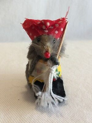 Vintage Original Toy Fur Mouse Little Housekeeping Mouse Factory West Germany