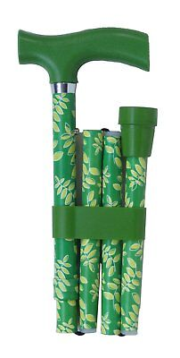 Switch Sticks Essentials Adjustable Folding Walking Stick - Leaf Green & Lime