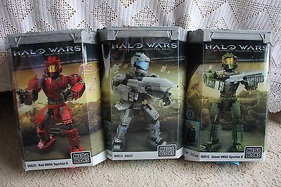 Halo Mega Blocks 96820 96816 96819 Unsc Spartan Ii Red Green And Odst