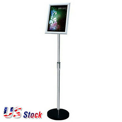 US Stock - A4 Size Pedestal Sign Stand Adjustable Height Display Frame