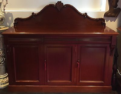 Antique Style Sideboard Buffet, Mahogany Chiffonier