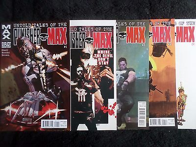Untold Tales Of The Punisher #1-5 (2012) Complete Full Set VF/NM Marvel Max