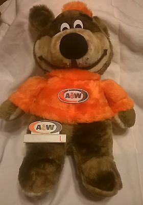 Vintage, Rooty the Bear, A&W, plus vintage name tag