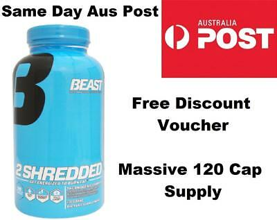 Beast 2Shredded 120 CAPSULES Beast 2 Shredded Fat Burner Weight Loss 2 x 60 Size
