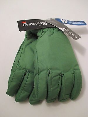 New Boys IGLOOS Ski Gloves WATERPROOF 3M THINSULATE ISOLANT~Green~Size M-L