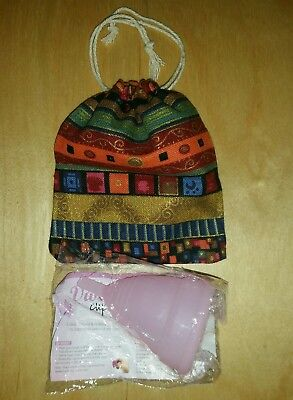Large MOON DIVA CUP B POD Menstrual Cup WITH CUTE RED GOLD POUCH FREE AUST POST