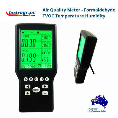 4in1 Portable Air Quality Meter Formaldehyde TVOC Temp. Humidity  (Japan Sensor)