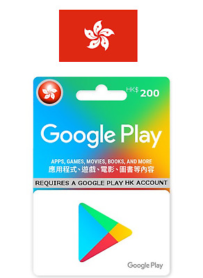Hong Kong Google Play Gift Card HKD$200 for Hong Kong Google Play Accounts only