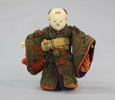 Antique Japanese EDO Era Ichimatsu Daki Ningyo Jointed Imperial Hina Gofun Doll