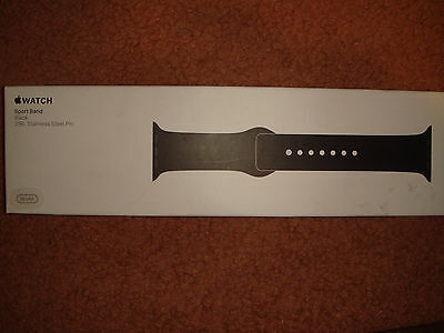 Apple Sport Band for Apple® Watch™ 38mm - BLACK- GENUINE & AUTHENTIC- Brand New!