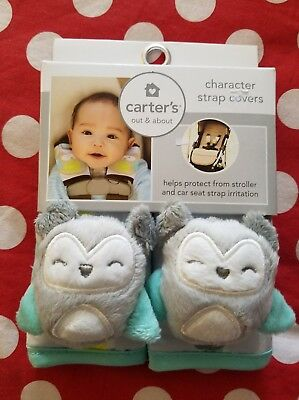 Carters Strap Cover Set Owl