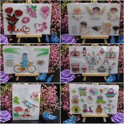 Merry Christmas Silicone Rubber Stamps Scrapbooking Embossing DIY Cards Decor