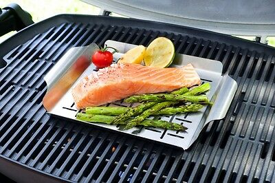 Weber Q Stainless Steel Grill Pan for All Weber Q Models WE91134