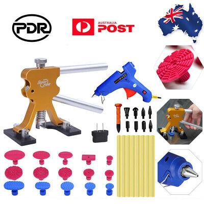 Paintless Dent Removal Kit PDR Tools Dent Puller Lifter Auto Body Glue Gun Tabs
