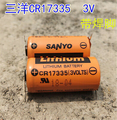 1PCS NEW SANYO CR17335 3V control battery with welding foot CR17335 3V #T4008 YS