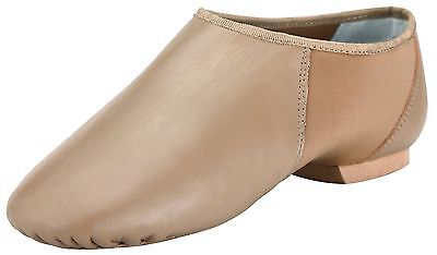 Pegasus galaxy Brown Women's Soft Leather Slip On Jazz Shoe for Adult