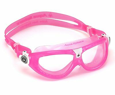 Aqua Sphere Seal Kid 2 - Kids Swimming Goggles - Clear Lens - Pink (186040)