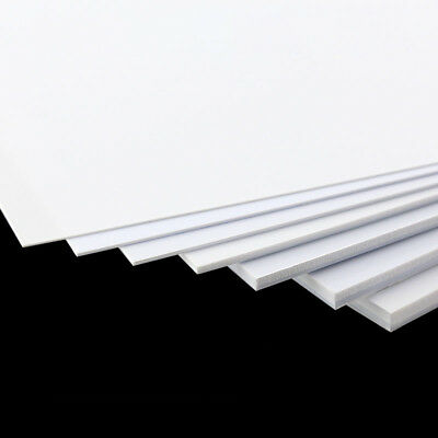 White ABS Plastic Sheet Panel Model Craft DIY 0.5/1/2/3/4/5mm Thick Multi Sizes