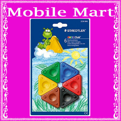 Staedtler◉Noris Club◉6 Colour Wax Crayon Triangles◉Kindergarten◉School◉Hobby◉Oz◉
