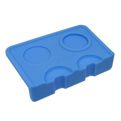 1 Piece Coffee Corner Mat Pressed Powder Pad Tool Food Safe Silicone Blue