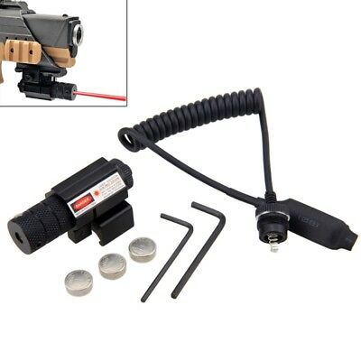 100M Hunting Mount Rmote Switch Tactical Red Laser Dot Scope 650nm For Gun Rifle