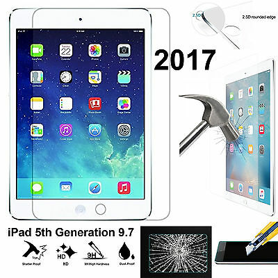 Full 9H Tempered Glass Apple iPad 5 screen protector 9.7 5th Generation 2017