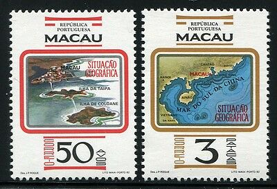 Macau Macao 1982 Geographie Landkarte Geographical Position Map 495-96 MNH