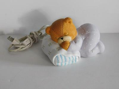 Night Light Sleeping Bear 1992 by Enesco Vintage Lucy & Me Child Nursery