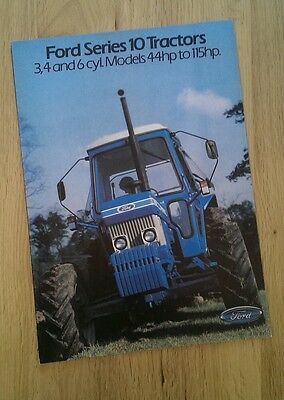 Ford 10 series tractor brochure.