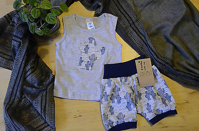 Handmade baby toddler clothes clothing 2 PIECE CACTUS SET size 00