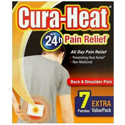 Cura Heat Back & Shoulder Pain 7 Patches 1 2 3 6 12 Packs