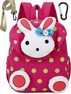 Small Toddler Kids Backpack School Bags Rabbit for Girls Pink Under 3 Years