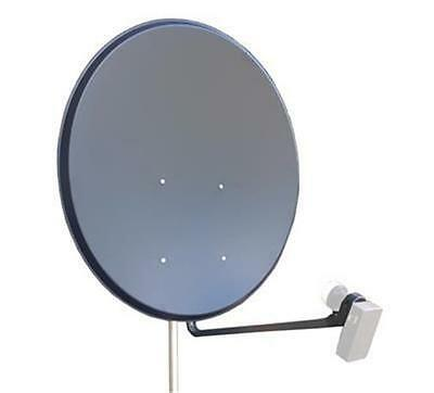 Satplus 100cm Solid Steel Dark Grey Satellite Dish For Pole Mounting FREE P&P