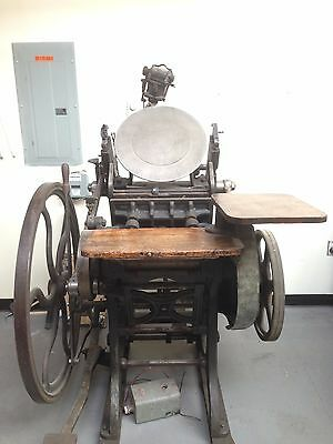Chandler and Price Oldstyle Platen Letterpress
