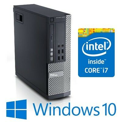 Dell Optiplex 9010 SFF Desktop PC Intel Core i7 3770 8G 128SSD Windows 10 Pro
