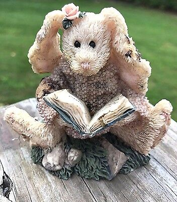 Boyds Bears & Friends Bearstone Collection Daphne The Reader Hare Figurine 1993