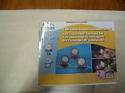 Kit d'éclairage LED immergeable PONTEC Set 3 neuf
