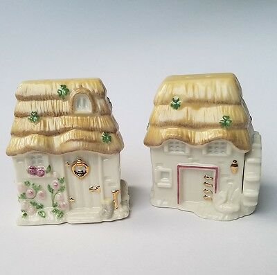 Lenox 2003 The Irish Blessings Cottage Salt & Pepper Shakers - MINT