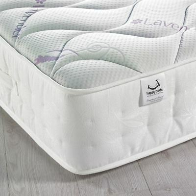 Happy Beds Lavender 3000 Pocket Sprung Memory Foam Mattress Quilted