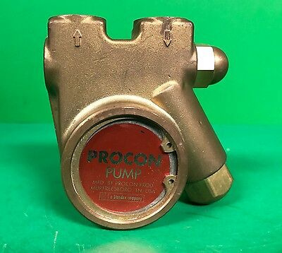 "Procon Series 1 Brass Rotary Vane Water Pump 101R100R12BC, 3/8"" NPT, 99 PSI"