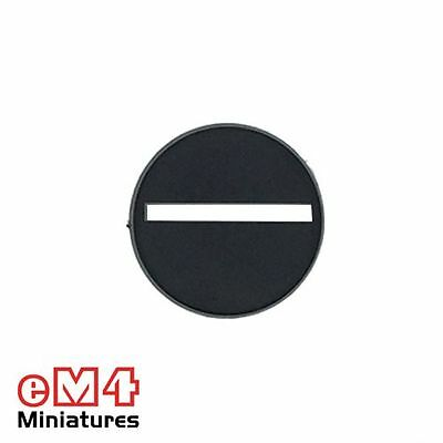 25mm Round Slotted Plastic Bases x 20 eM4 warhammer 40k miniature RPG